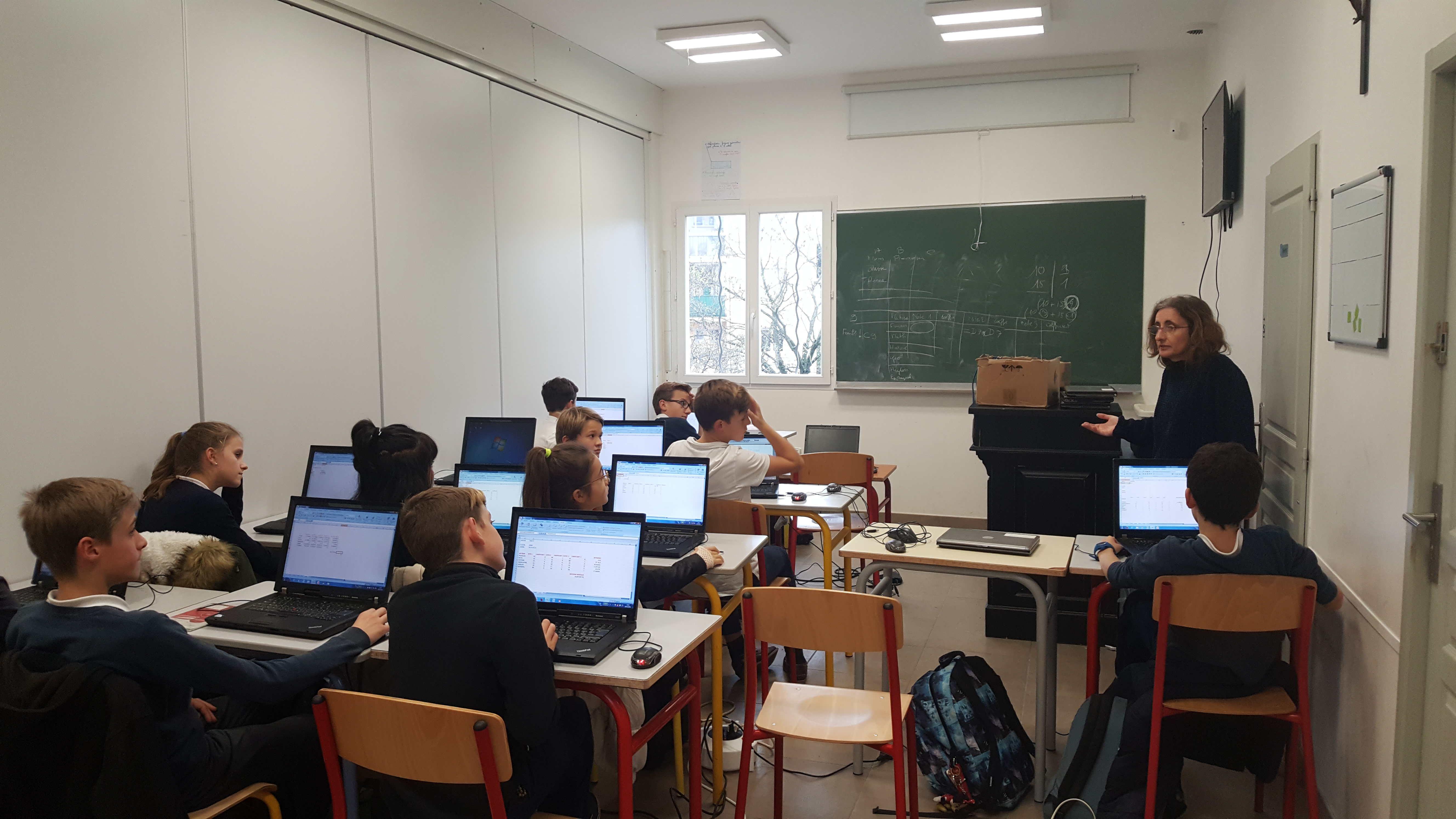 cours informatique primaire privé